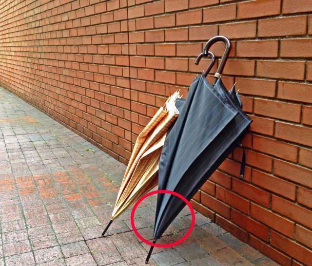 傘に仕込んだ盗撮カメラ